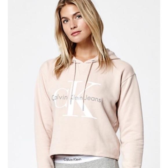 24d4a07cf1780a Rare Calvin Klein Nude Pink Hoodie